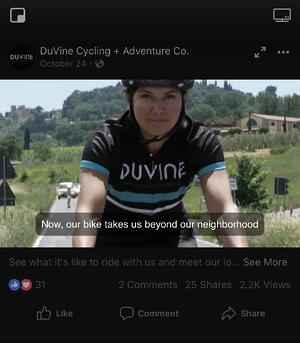 DuVine Cycling Video Closed Caption