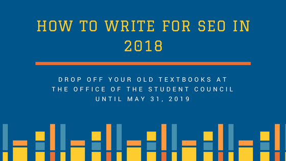 drop off your old textbooks atthe OFFICE of the student counciluntil may 31, 2019